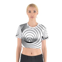 Spiral Eddy Route Symbol Bent Cotton Crop Top