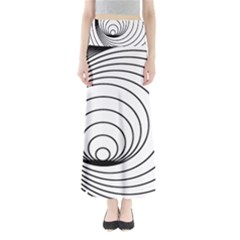 Spiral Eddy Route Symbol Bent Full Length Maxi Skirt