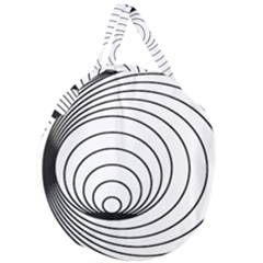 Spiral Eddy Route Symbol Bent Giant Round Zipper Tote