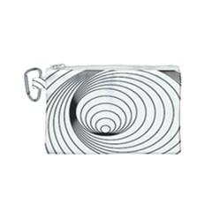 Spiral Eddy Route Symbol Bent Canvas Cosmetic Bag (small)