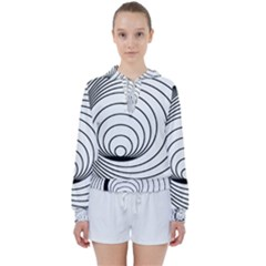 Spiral Eddy Route Symbol Bent Women s Tie Up Sweat