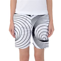 Spiral Eddy Route Symbol Bent Women s Basketball Shorts