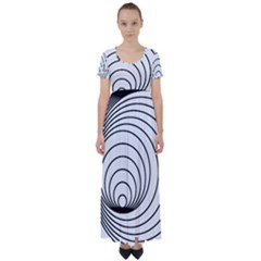 Spiral Eddy Route Symbol Bent High Waist Short Sleeve Maxi Dress by Nexatart