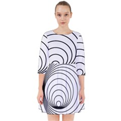 Spiral Eddy Route Symbol Bent Smock Dress