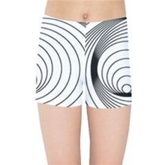 Spiral Eddy Route Symbol Bent Kids Sports Shorts