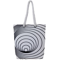 Spiral Eddy Route Symbol Bent Full Print Rope Handle Tote (small)
