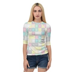 Background Abstract Pastels Square Quarter Sleeve Raglan Tee