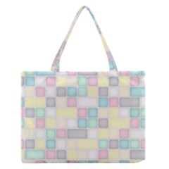 Background Abstract Pastels Square Zipper Medium Tote Bag by Nexatart