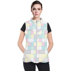 Background Abstract Pastels Square Women s Puffer Vest