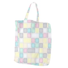 Background Abstract Pastels Square Giant Grocery Tote
