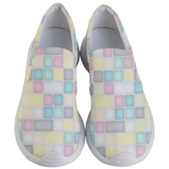 Background Abstract Pastels Square Women s Lightweight Slip Ons