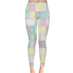 Background Abstract Pastels Square Inside Out Leggings by Nexatart