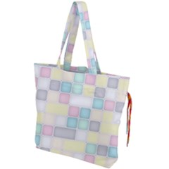 Background Abstract Pastels Square Drawstring Tote Bag