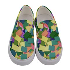 List Post It Note Memory Women s Canvas Slip Ons