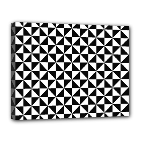 Triangle Pattern Simple Triangular Canvas 14  X 11  by Nexatart