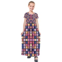 Artworkbypatrick1 18 Kids  Short Sleeve Maxi Dress