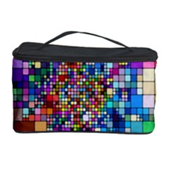 Abstract Squares Arrangement Cosmetic Storage Case