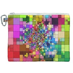 Abstract Squares Arrangement Canvas Cosmetic Bag (xxl) by Nexatart
