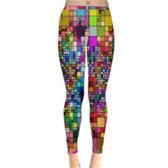 Abstract Squares Arrangement Inside Out Leggings by Nexatart