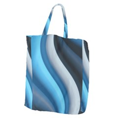 Abstract Pattern Lines Wave Giant Grocery Tote