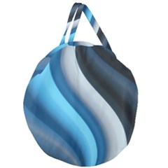 Abstract Pattern Lines Wave Giant Round Zipper Tote