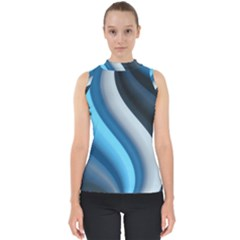 Abstract Pattern Lines Wave Shell Top