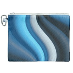 Abstract Pattern Lines Wave Canvas Cosmetic Bag (xxl) by Nexatart