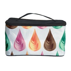 Background Colorful Abstract Cosmetic Storage Case by Nexatart