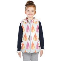 Background Colorful Abstract Kid s Hooded Puffer Vest