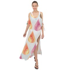 Background Colorful Abstract Maxi Chiffon Cover Up Dress