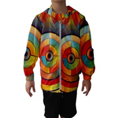 Background Colorful Abstract Hooded Windbreaker (kids)