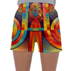 Background Colorful Abstract Sleepwear Shorts