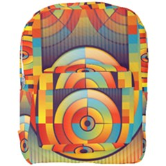 Background Colorful Abstract Full Print Backpack