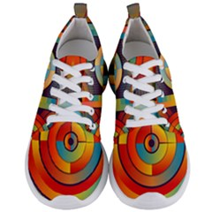 Background Colorful Abstract Men s Lightweight Sports Shoes
