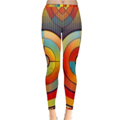 Background Colorful Abstract Inside Out Leggings by Nexatart