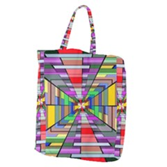 Art Vanishing Point Vortex 3d Giant Grocery Tote