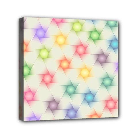 Polygon Geometric Background Star Mini Canvas 6  X 6  by Nexatart