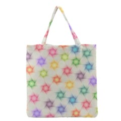 Polygon Geometric Background Star Grocery Tote Bag by Nexatart