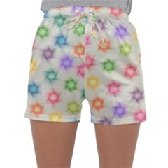 Polygon Geometric Background Star Sleepwear Shorts