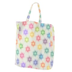 Polygon Geometric Background Star Giant Grocery Tote