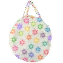 Polygon Geometric Background Star Giant Round Zipper Tote