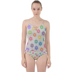 Polygon Geometric Background Star Cut Out Top Tankini Set