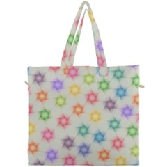Polygon Geometric Background Star Canvas Travel Bag by Nexatart
