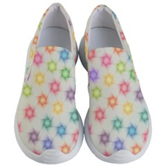 Polygon Geometric Background Star Women s Lightweight Slip Ons