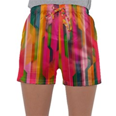 Background Abstract Colorful Sleepwear Shorts