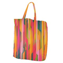 Background Abstract Colorful Giant Grocery Tote