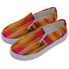 Background Abstract Colorful Kids  Canvas Slip Ons by Nexatart