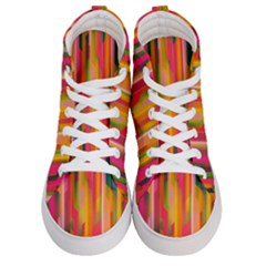 Background Abstract Colorful Women s Hi Top Skate Sneakers