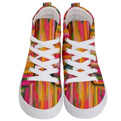 Background Abstract Colorful Kid s Hi Top Skate Sneakers