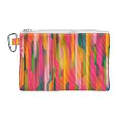 Background Abstract Colorful Canvas Cosmetic Bag (large) by Nexatart